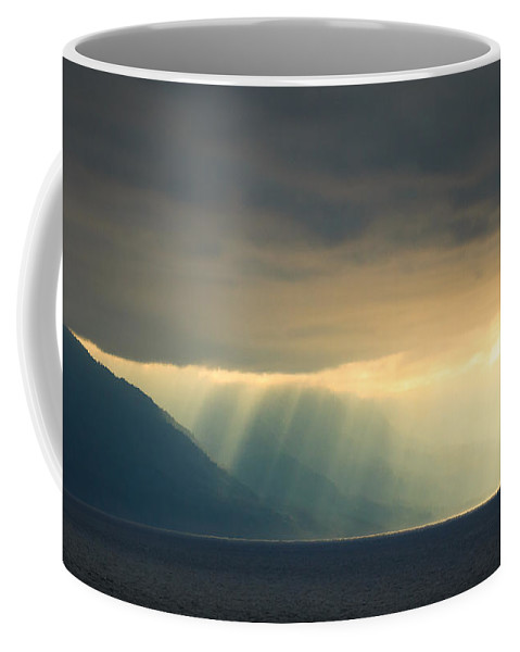 Alaska Coffee Mug featuring the photograph Alaska Inside Passage Under The Clouds by Joni Eskridge