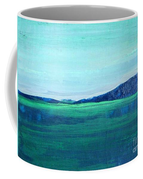 Lake Coffee Mug featuring the painting Alaska Lake by Vesna Antic