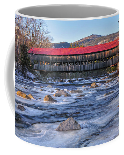 Winter Scene Coffee Mug featuring the photograph Albany Covered Bridge-white Mountains Of New Hampshire by Expressive Landscapes Nature Photography