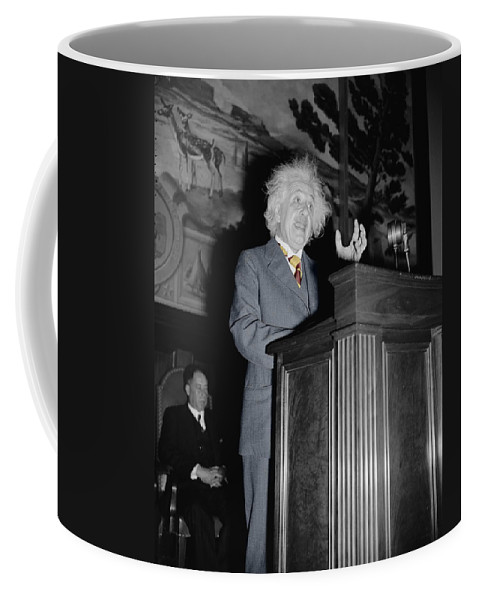 Einstein Coffee Mug featuring the photograph Albert Einstein by Andrew Fare