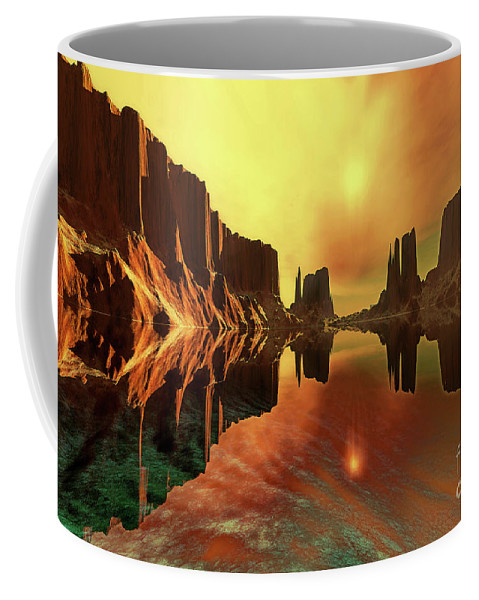 River Coffee Mug featuring the painting Alchemy by Corey Ford