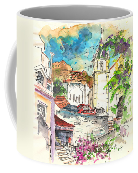 Travel Coffee Mug featuring the painting Alcoutim In Portugal 02 by Miki De Goodaboom