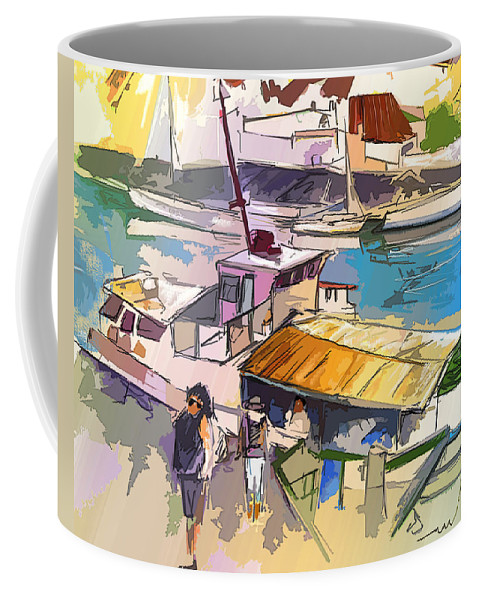 Art Coffee Mug featuring the painting Alcoutim In Portugal 05 Bis by Miki De Goodaboom