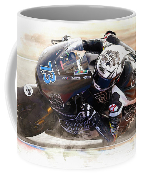 Formula 1 Coffee Mug featuring the digital art Alex Marquez by Don Kuing