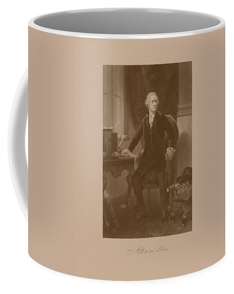 77772bb83f2 Alexander Hamilton Coffee Mug featuring the mixed media Alexander Hamilton  Sitting At His Desk by War