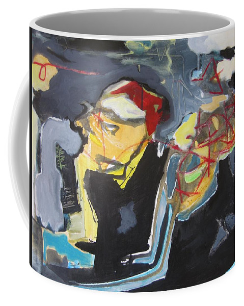 Abstract Paintings Coffee Mug featuring the painting Alexander Trail by Seon-Jeong Kim
