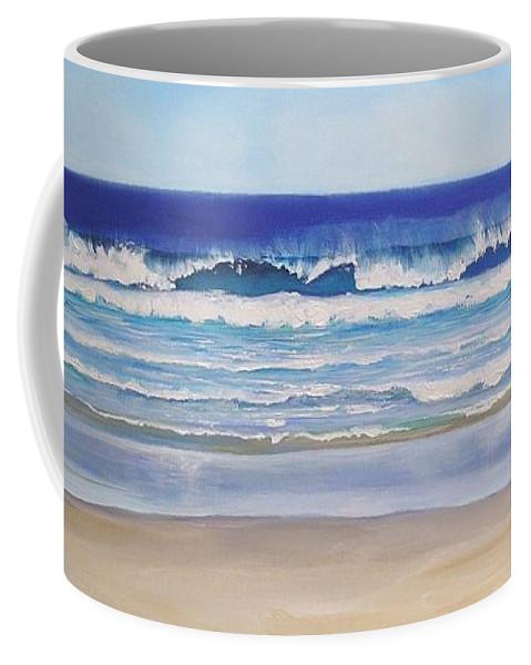 Seascape Coffee Mug featuring the painting Alexandra Bay Noosa Heads Queensland Australia by Chris Hobel