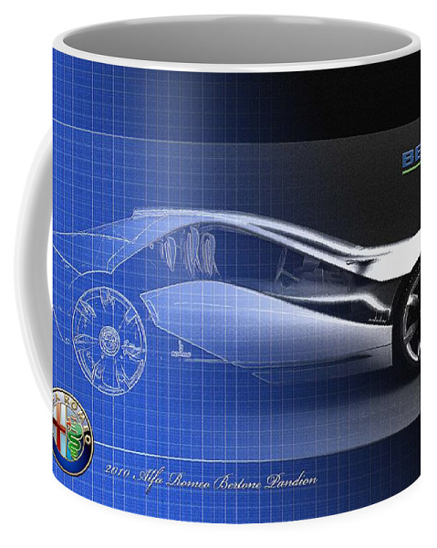 Wheels Of Fortune By Serge Averbukh Coffee Mug featuring the photograph Alfa Romeo Bertone Pandion Concept by Serge Averbukh