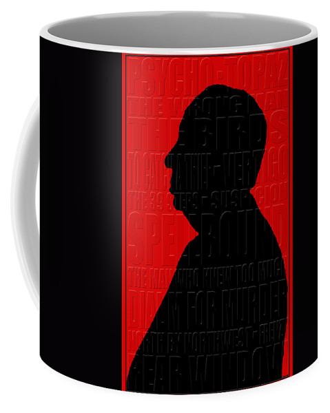 Hitchcock Coffee Mug featuring the photograph Alfred Hitchcock by Andrew Fare