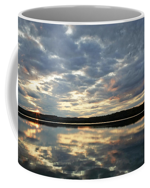 Landscape Coffee Mug featuring the photograph Algonquin Lake Sunset by Phill Doherty