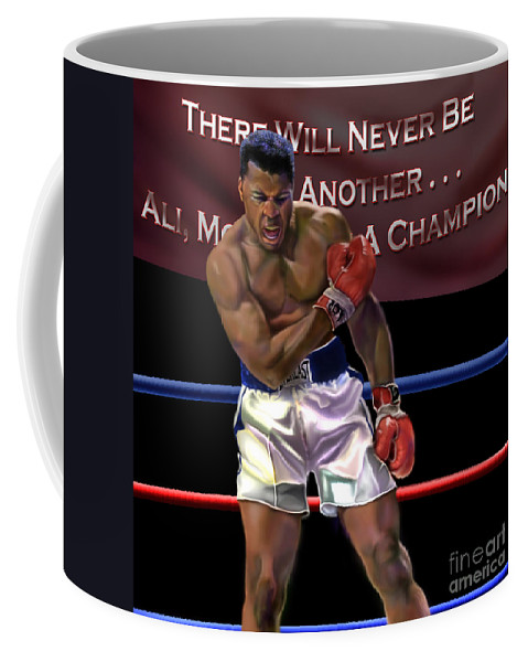 The Greatest Coffee Mug featuring the painting Ali - More Than A Champion by Reggie Duffie