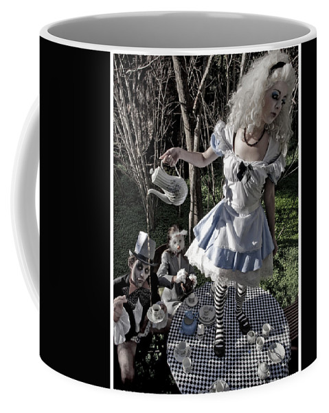 Alice In Wonderland Coffee Mug featuring the photograph Alice And Friends 1 by Kelly Jade King