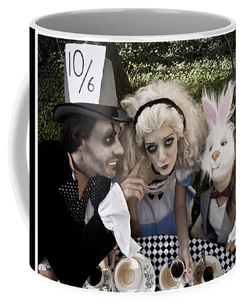 Alice In Wonderland Coffee Mug featuring the photograph Alice And Friends 2 by Kelly Jade King
