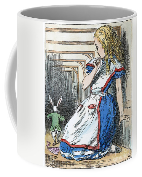1865 Coffee Mug featuring the painting Alice In Wonderland by Granger