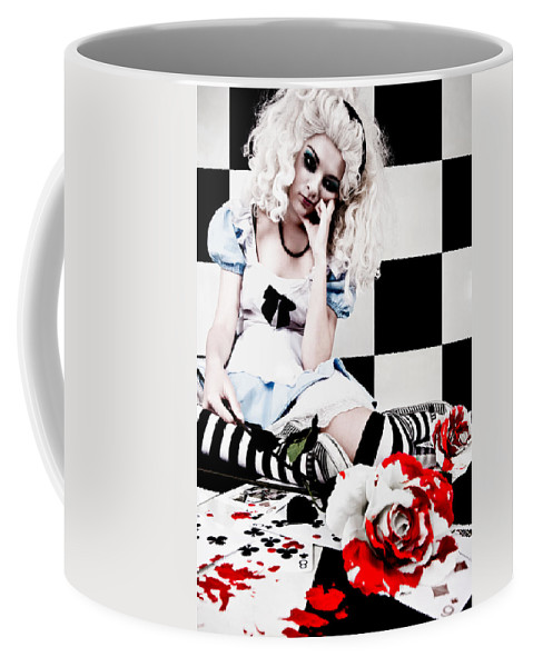 Alice In Wonderland Coffee Mug featuring the photograph Alice2 by Kelly Jade King