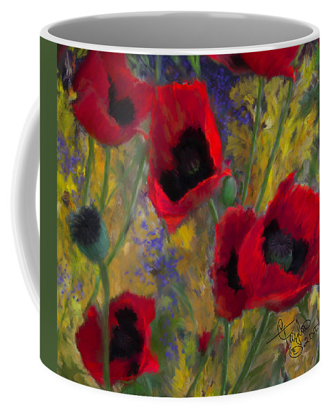 Flowers Coffee Mug featuring the painting Alicias Poppies by Colleen Taylor