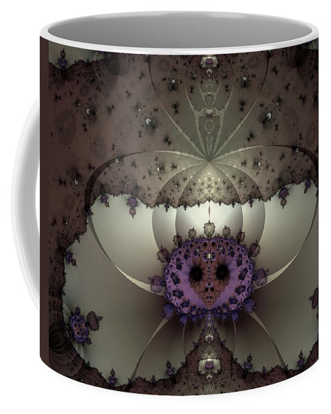 Abstract Coffee Mug featuring the digital art Alien Exotica by Casey Kotas