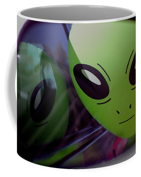 Alien Coffee Mug featuring the photograph Alien Is Closer Than He Appears by Richard Henne