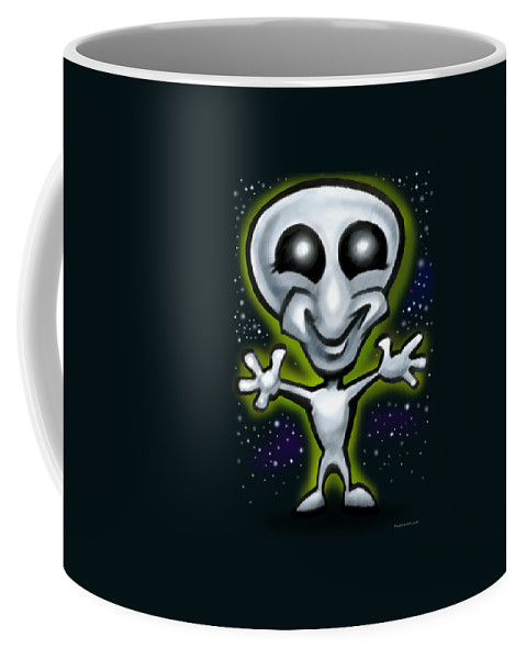 Alien Coffee Mug featuring the digital art Alien by Kevin Middleton