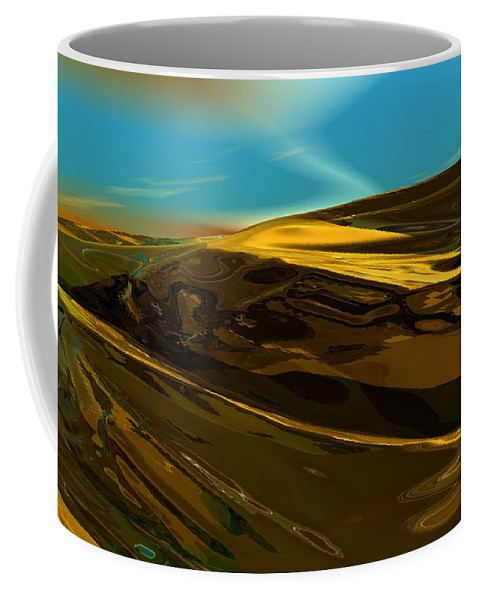 Landscape Coffee Mug featuring the digital art Alien Landscape 2-28-09 by David Lane