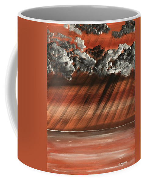 Storm Coffee Mug featuring the painting Alien Storm by Mike Parsons