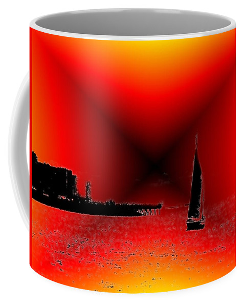Sail Coffee Mug featuring the photograph Alki Sail 2 by Tim Allen