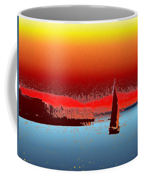 Seattle Coffee Mug featuring the photograph Alki Sail 3 by Tim Allen