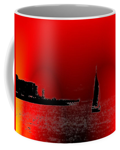 Seattle Coffee Mug featuring the photograph Alki Sail 4 by Tim Allen