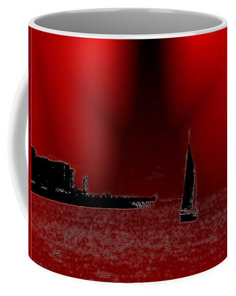 Seattle Coffee Mug featuring the photograph Alki Sail 5 by Tim Allen