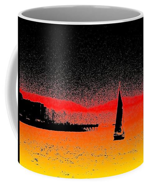 Seattle Coffee Mug featuring the photograph Alki Sail by Tim Allen