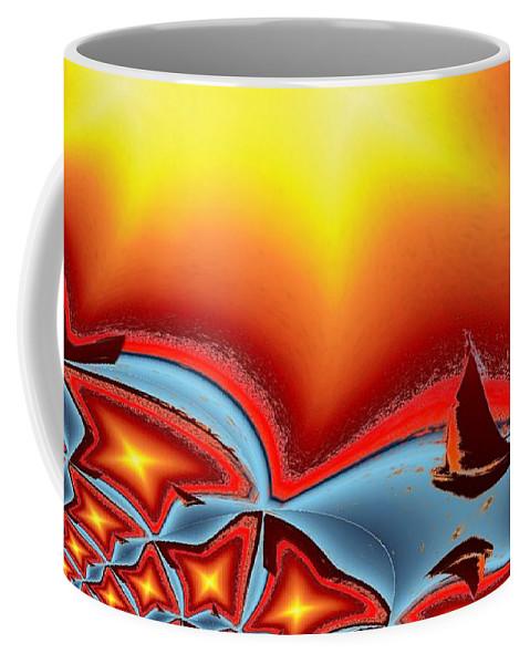 Sail Coffee Mug featuring the photograph Alki Sail Under The Sun 2 by Tim Allen