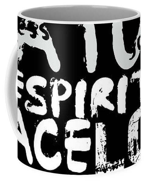 Typography Coffee Mug featuring the digital art All Abut Words 3 by Mark Ashkenazi