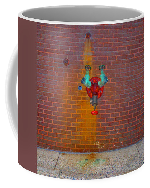 Photograph Coffee Mug featuring the photograph All Alone Red Pipe by Thomas Valentine