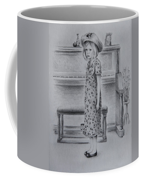 Figure Coffee Mug featuring the drawing All Dressed Up by Rachel Christine Nowicki