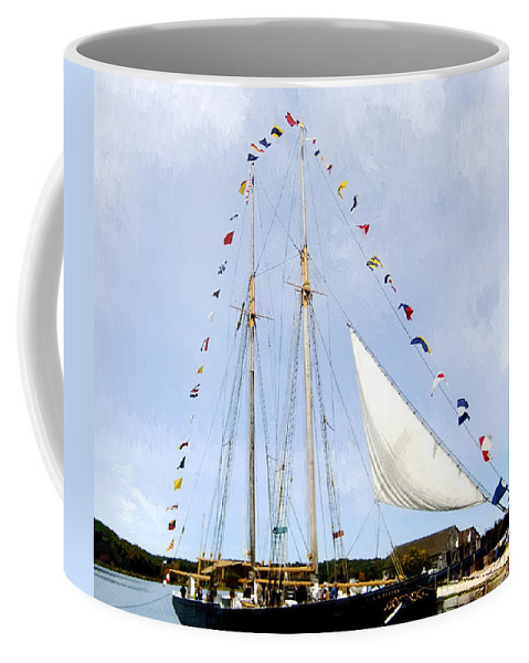 Landscape Coffee Mug featuring the painting All Flags Flying by RC DeWinter