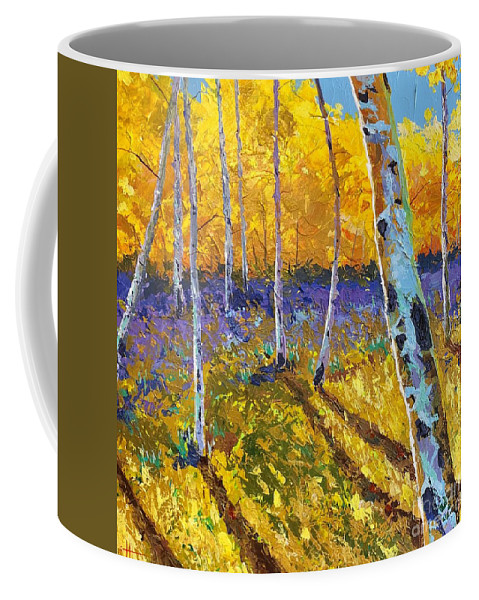 Aspen Coffee Mug featuring the painting All In The Golden Afternoon by Hunter Jay