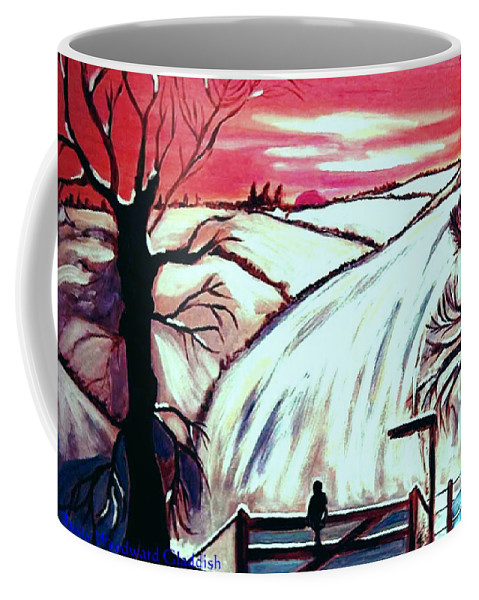Landscape Coffee Mug featuring the painting All Is Calm..... by Rusty Gladdish