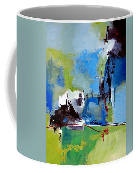 Abstract Coffee Mug featuring the painting All Is Not Lost by Ruth Palmer