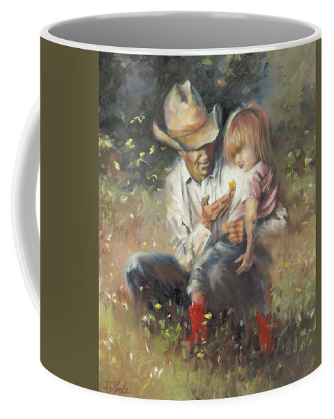 Children Coffee Mug featuring the painting All Of Life's Little Wonders by Mia DeLode