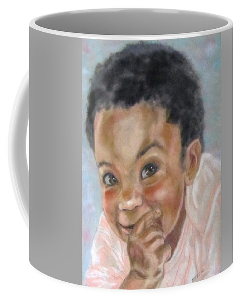 Baby Coffee Mug featuring the painting All Smiles by Barbara O'Toole