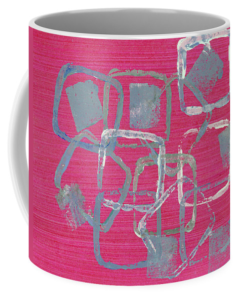Abstract Coffee Mug featuring the painting All Squared Away by Alexis Grone