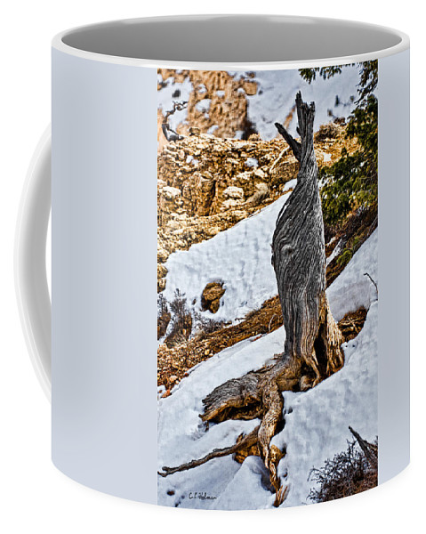 Tree Coffee Mug featuring the photograph All That Remains by Christopher Holmes