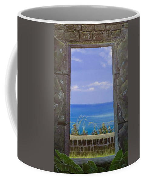 Ruins Coffee Mug featuring the painting All That Remains by Hunter Jay
