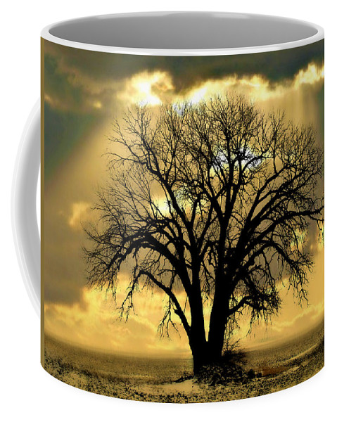 Tree Coffee Mug featuring the photograph All That Remains by Julie Hamilton
