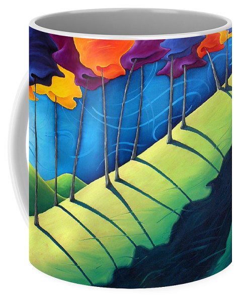 Landscape Coffee Mug featuring the painting All The Same In The End by Richard Hoedl