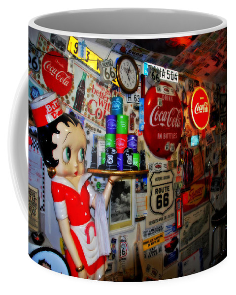 Route 66 Coffee Mug featuring the photograph All The Souvenirs Of Route 66 by Susanne Van Hulst