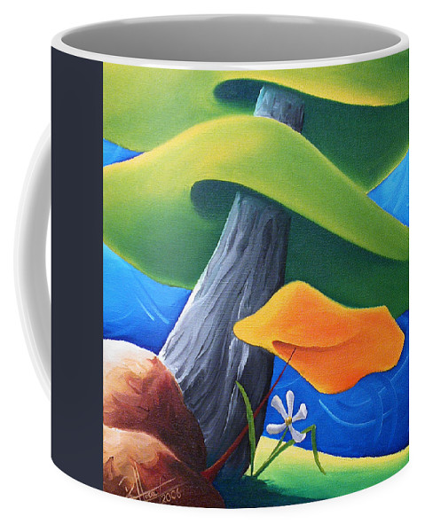 Landscape Coffee Mug featuring the painting All Under One Roof by Richard Hoedl
