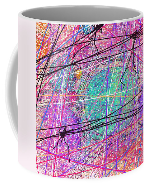 Abstract Coffee Mug featuring the digital art All Wrapped Up by Rachel Christine Nowicki