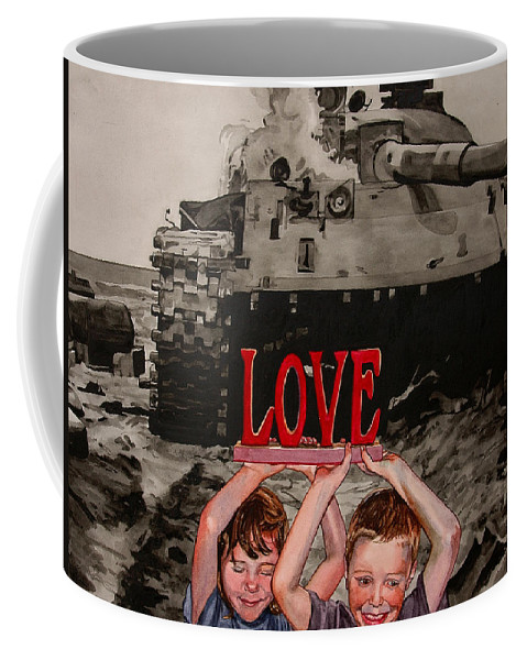 Political Coffee Mug featuring the painting All You Need Is... by Valerie Patterson
