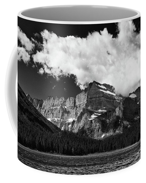 Gnp Coffee Mug featuring the photograph Allen Mountain Towers Over Swift Current Lake by Craig Tata